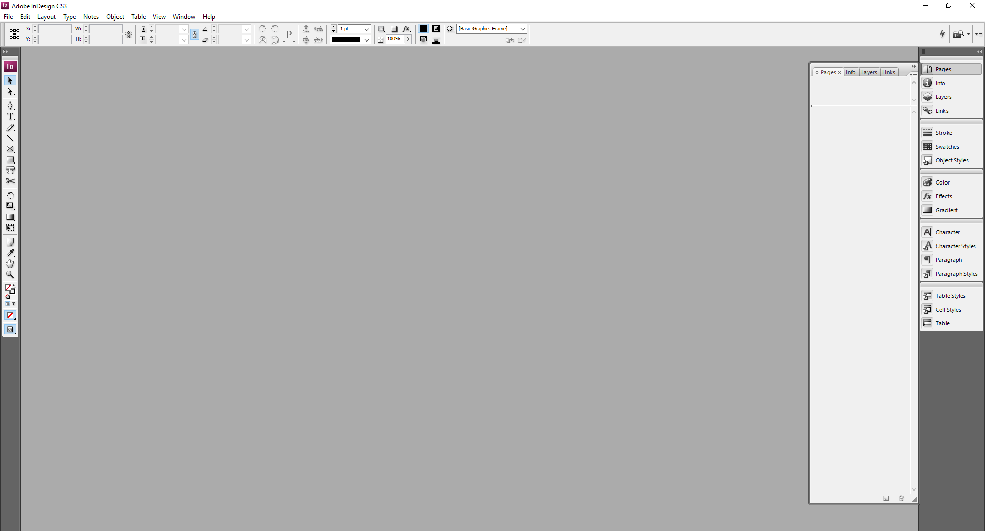 InDesign // User Interface
