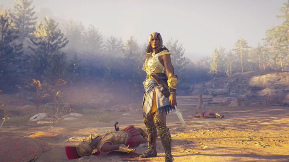 Kassandra, being a badass.   [Source: Assassins Creed® Odyssey]