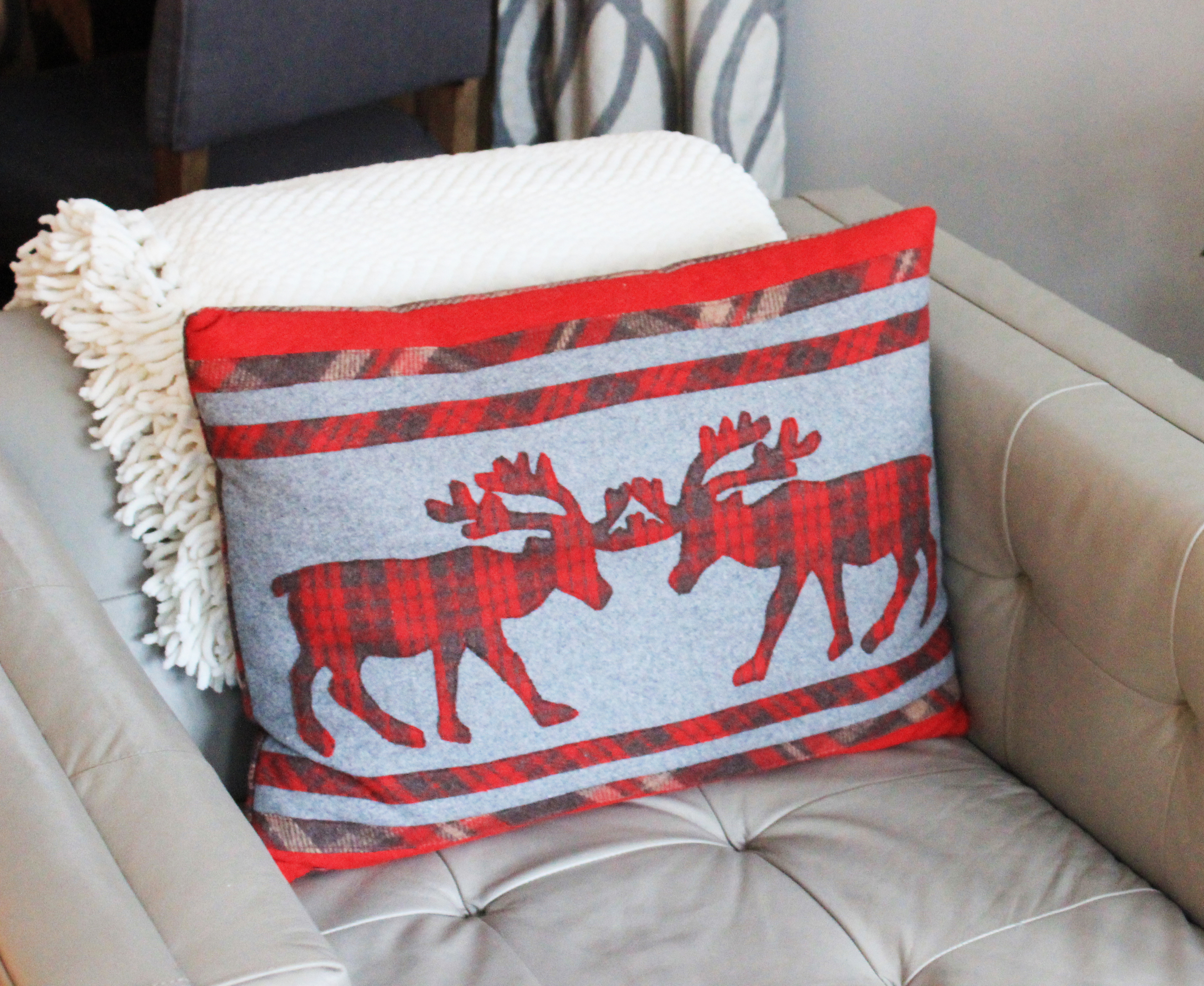 Reindeer pillow-Sadie Road
