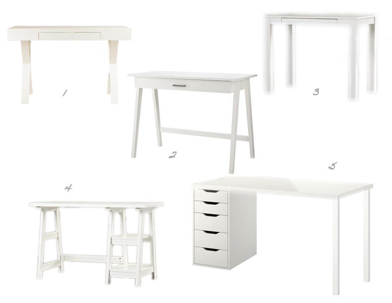 White Desks Sadie Road