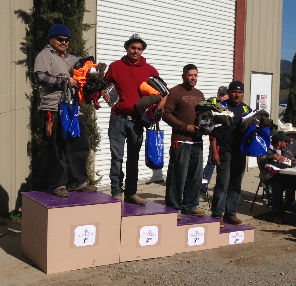 Fernando Espita of Valdez & Sons Vineyard Management Inc., won the Alexander Valley regional competition.