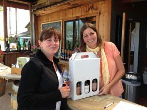 Celeste Gantz with tasting room manager Lisa Macek