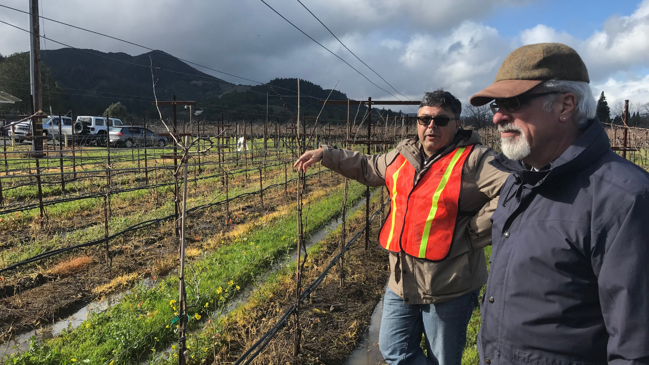 Clay Gantz (right) with Dr. Kaan Kurtural, assistant Cooperative Extension specialist in viticulture at UC Davis