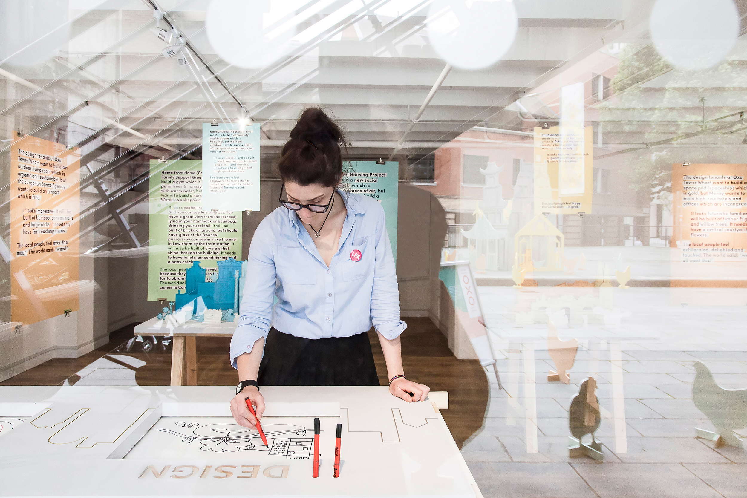 Projects-Office_OXO-Tower_Exhibition_Architecture_Drawing-Table