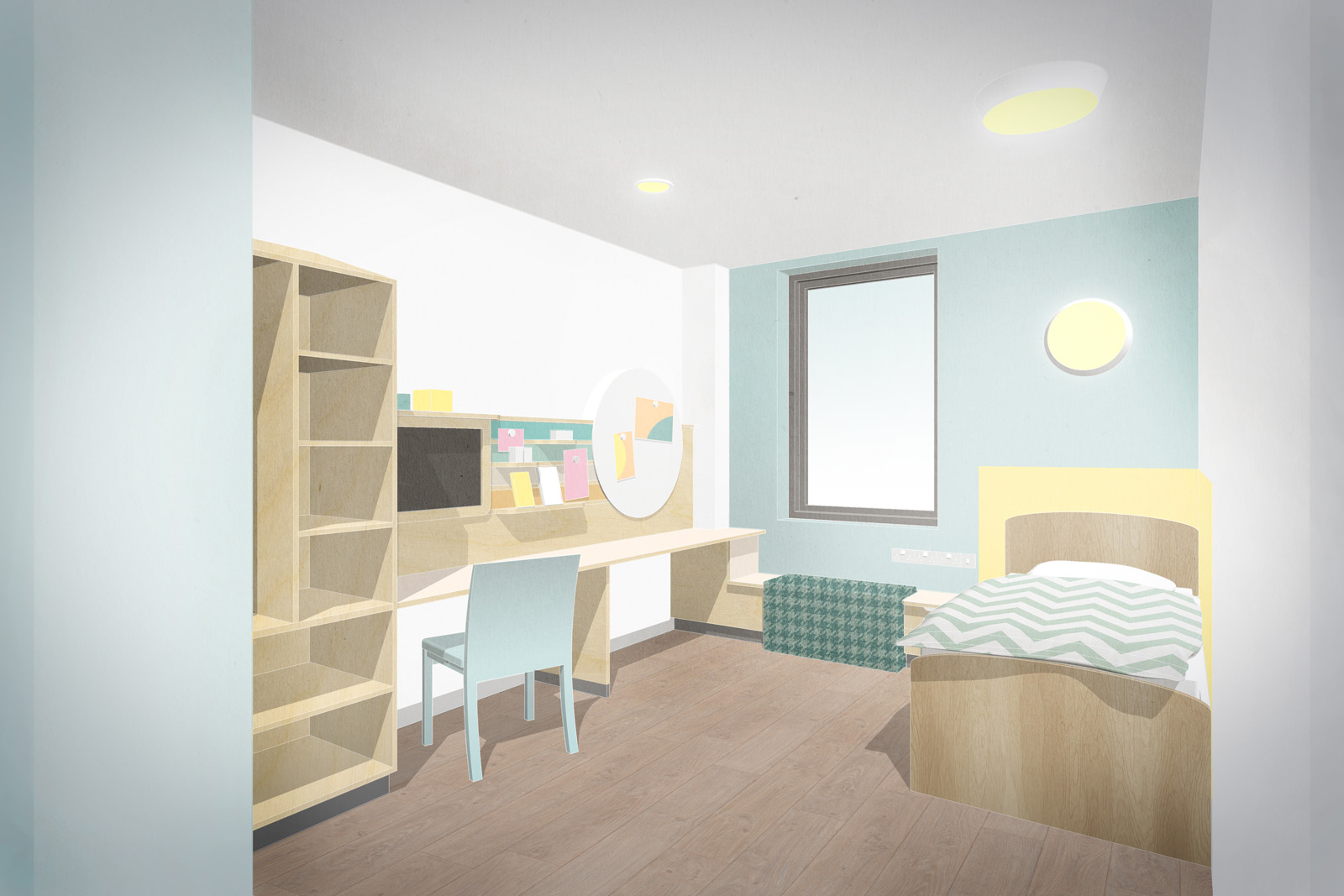 Inpatient bedroom