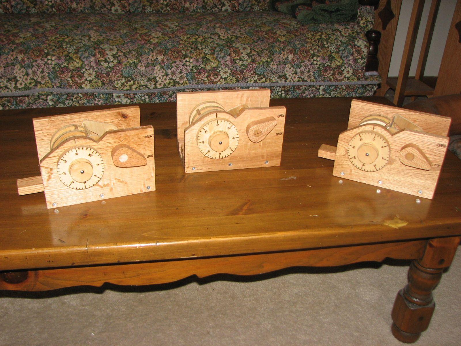 Wooden Combination Locks