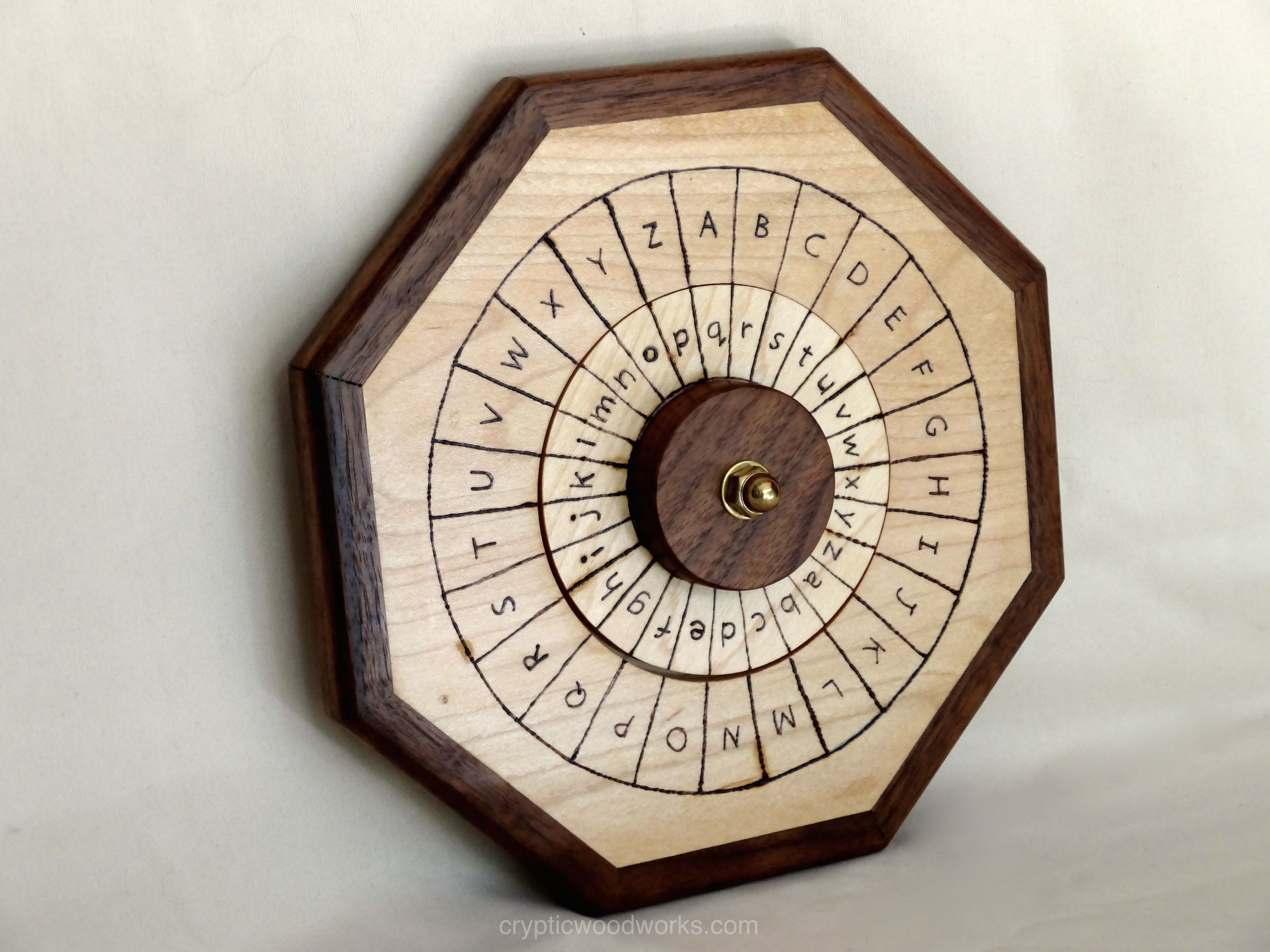 Cipher Wheel - English - Maple - Angled View 1.jpg