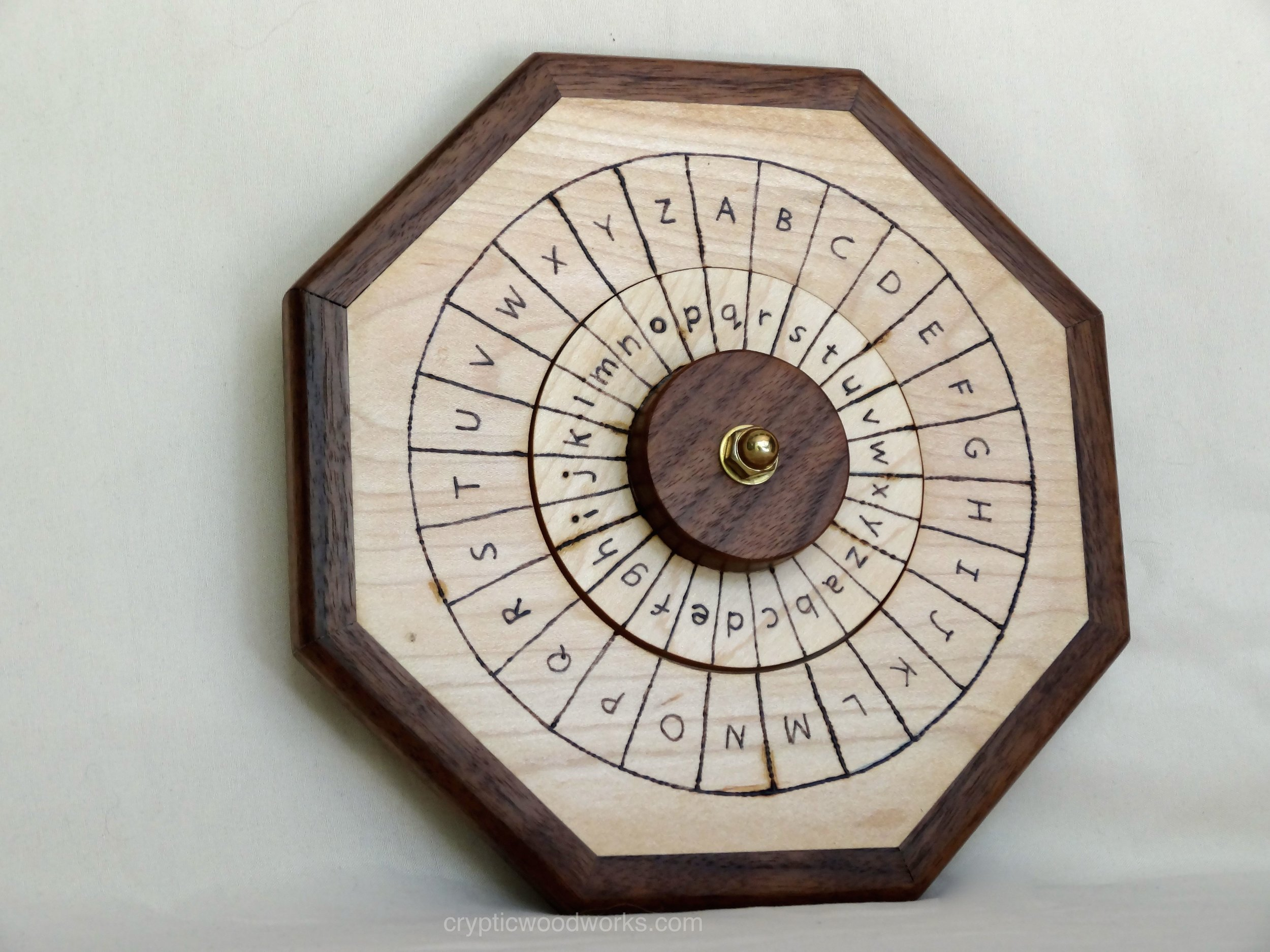 Cipher Wheel - English - Maple - Angled View 2.jpg