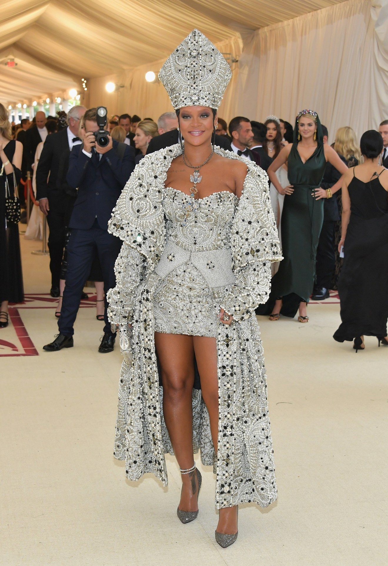Rihanna in papal-inspired custom  Maison Margiela