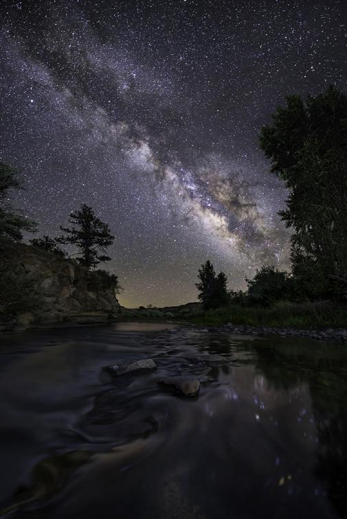 Milky Way Over the Glia River