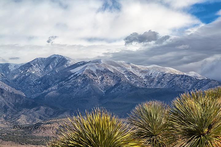 Sierra Blanco from Santo Nino Trail