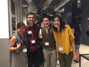 Co-founders of Kai Wesleyan (Mika, Alex, Pi) with Max Gunawan