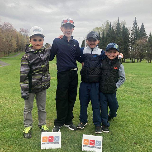 Félicitation au représentant du Royal Québec: Justin, Victor, Elliote et Nathan pour leurs premier tournois de l'année! #juniorgolf #golfquebec #sortezgolfez #clubdegolfroyalquebec