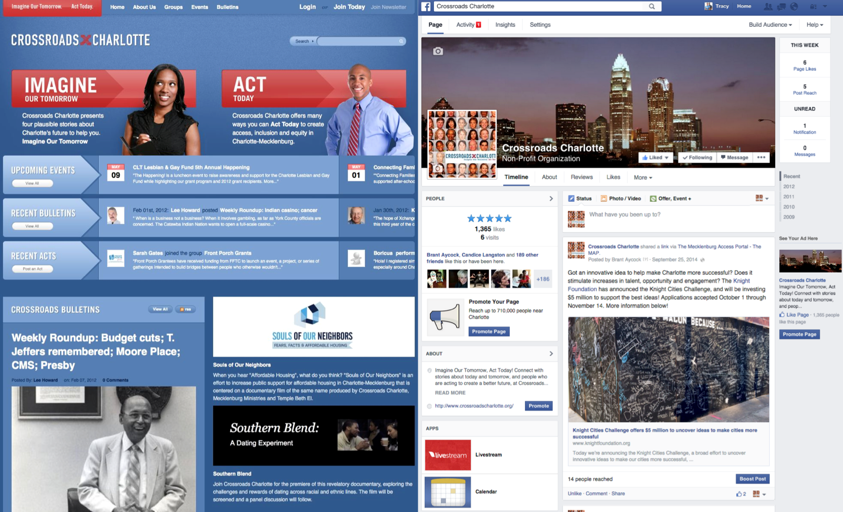Robust web-based and social media platforms  augmented the reach of Crossroads Charlotte and served as key civic infrastructure for the community to connect on major issues.