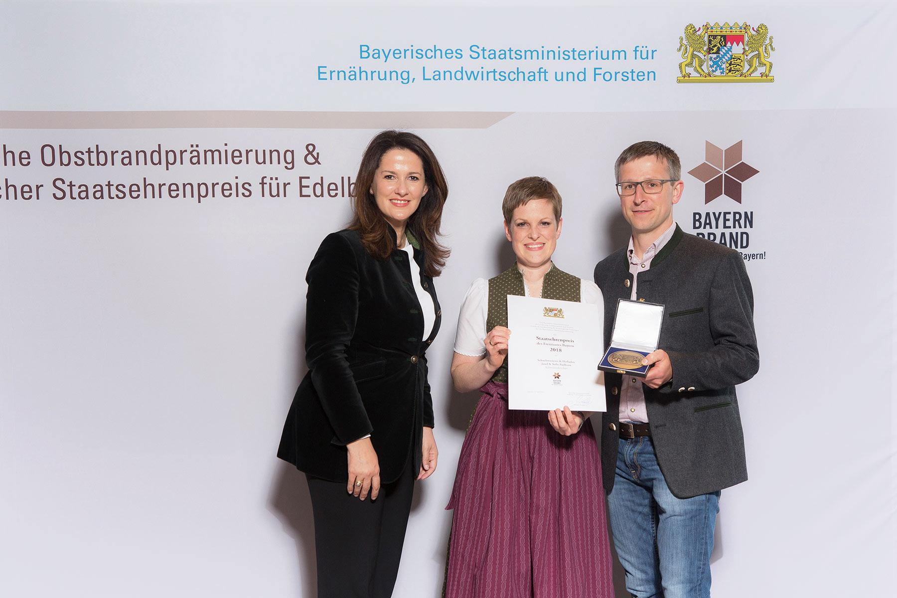 Verleihung des Staatsehrenpreises 2018 durch das Bayerische Staatsministerium für Ernährung, Landwirtschaft und Forsten