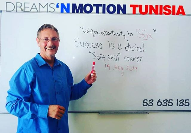 Richard Howard, our CEO, will be teaching this course. We made him do some advertising (he looks happy right??😁) #softskills #tunisia #opportunity