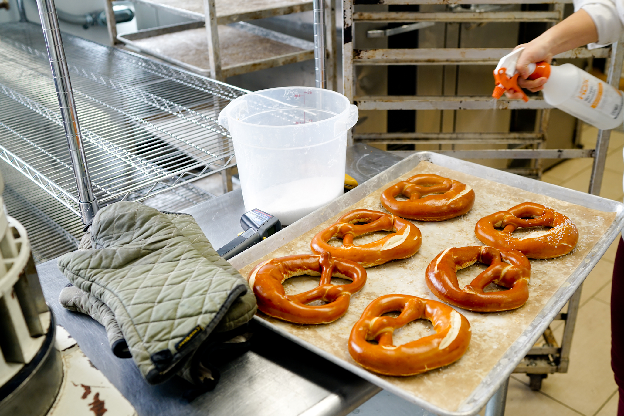 """""""Germans use pretzels as a regular bread and we don't think of pretzels as a regular bread. So sometimes people are like, 'Oh, you make bread?' and I say, 'Yeah, pretzels.' - Alexis Faraci, founder and owner of the Bronx Baking Co."""