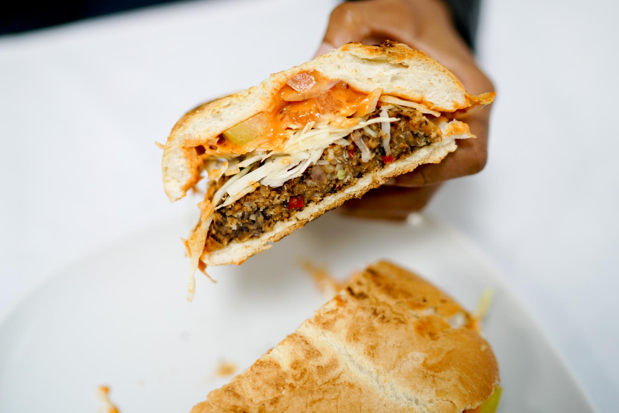 The Vegan Chimi Burger
