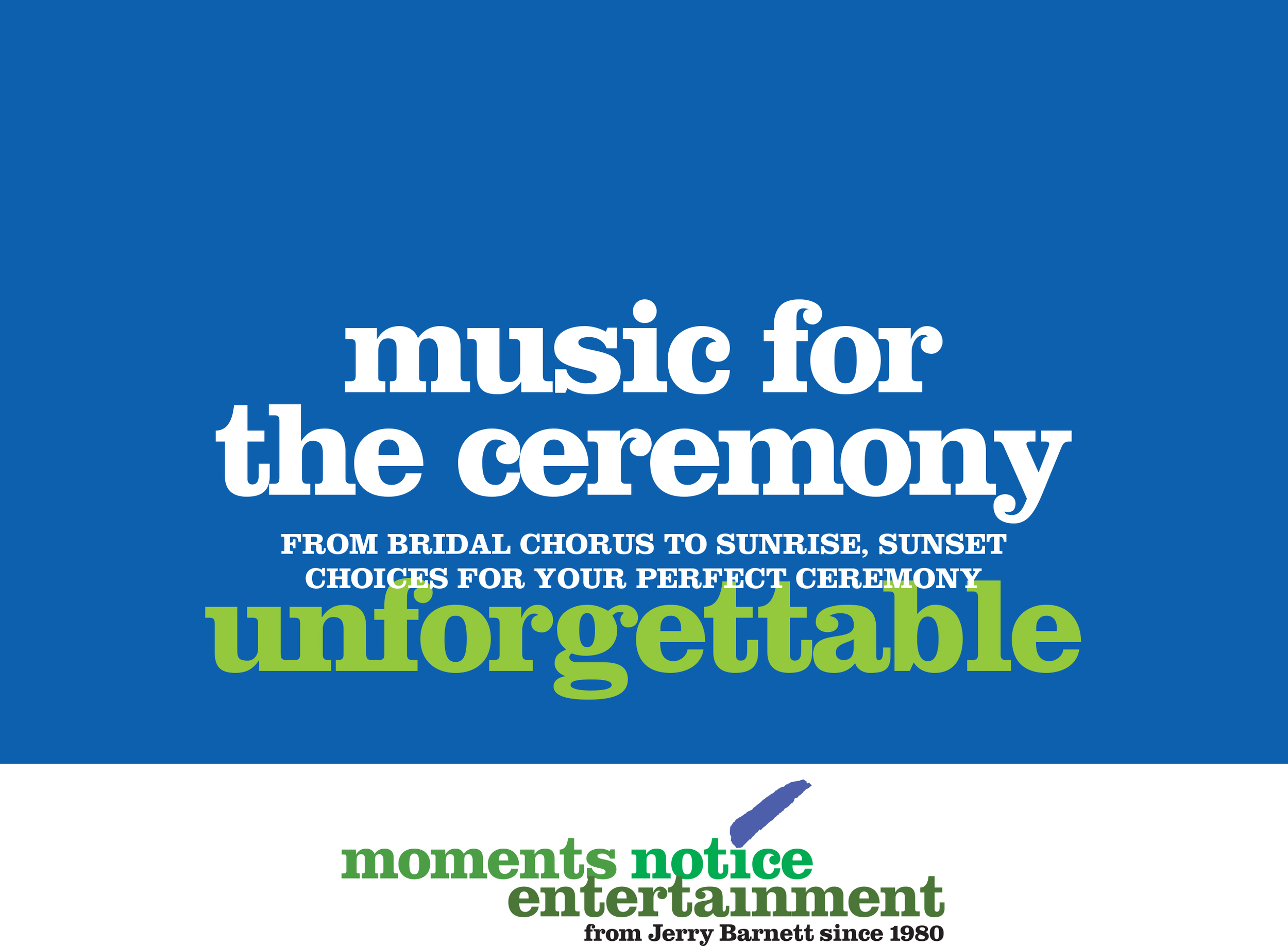 Download music selections for the ceremony