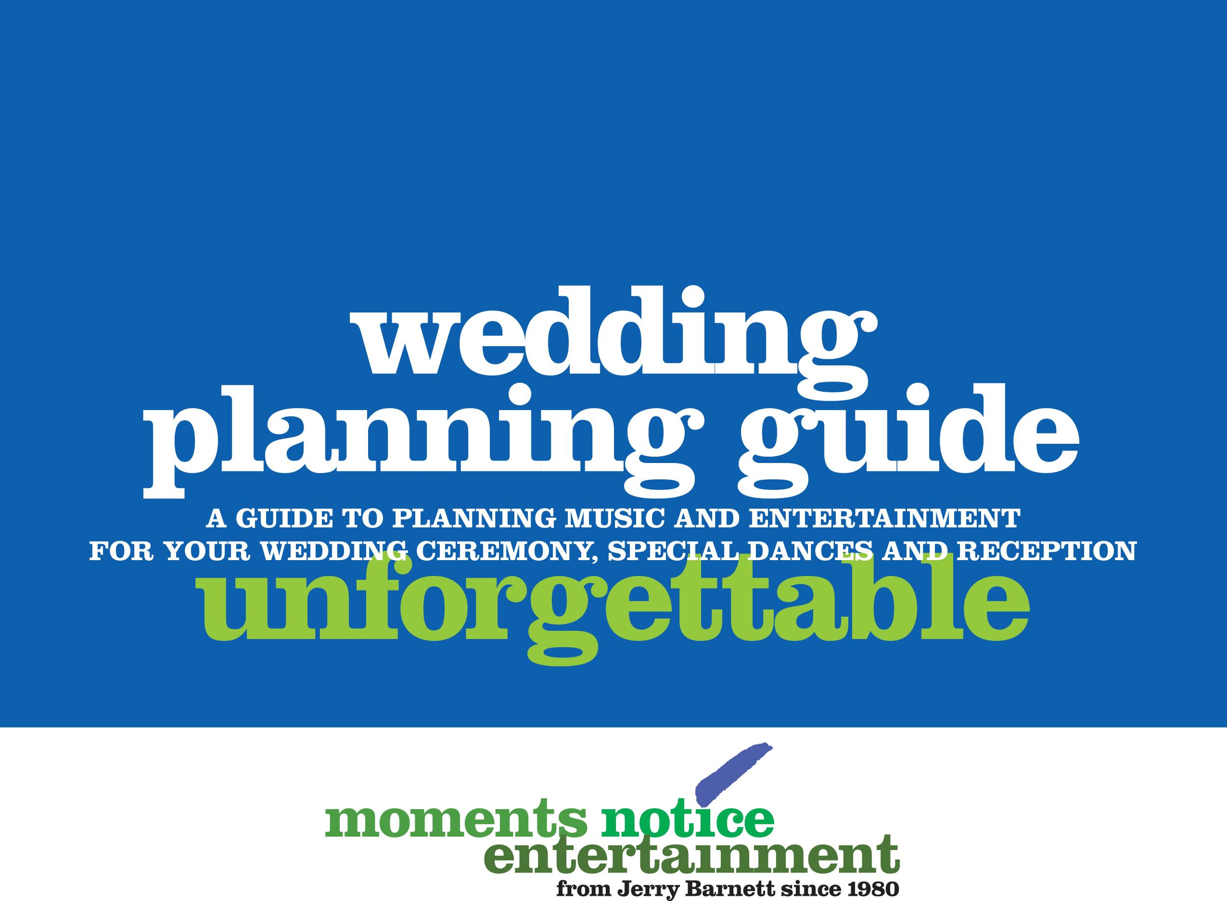 Download wedding entertainment planner