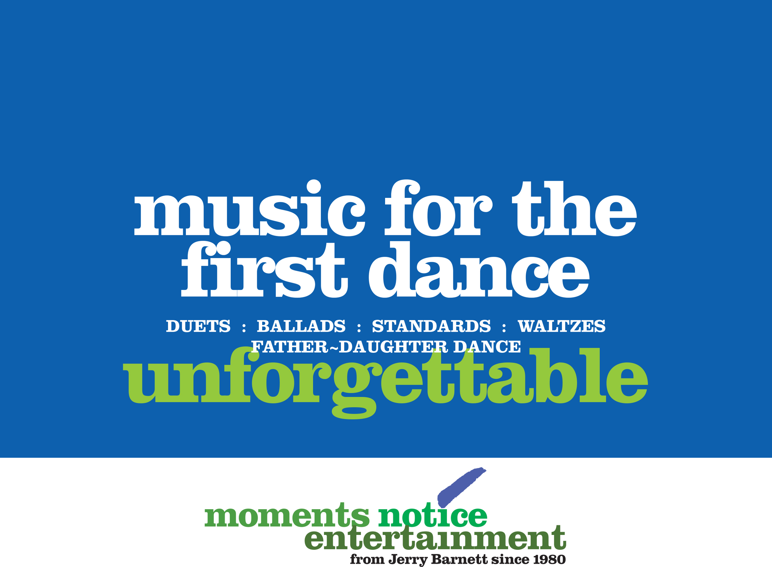 Download music selections for the first dance