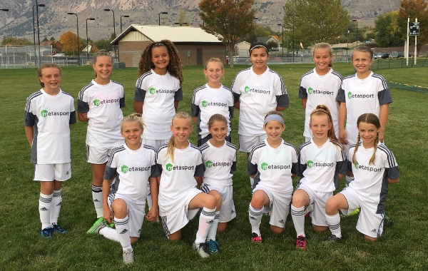 MetaSport 12U girls competitive soccer team in Davis County