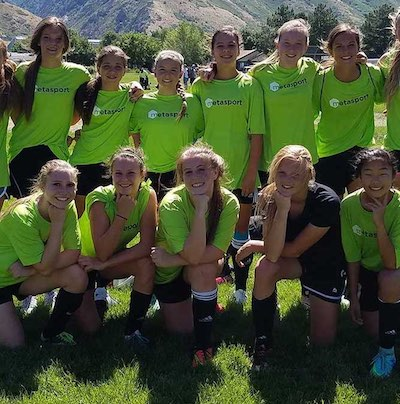 16U-18U MetaSport FC Girls High School Competition Soccer Team.