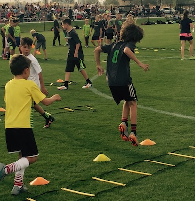 Meta Movement soccer training through MetaSport FC.