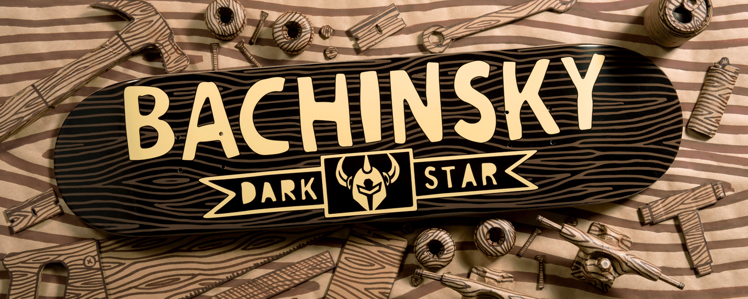 Darkstar Skateboards Dave Bachinsky Pro woodblock deck