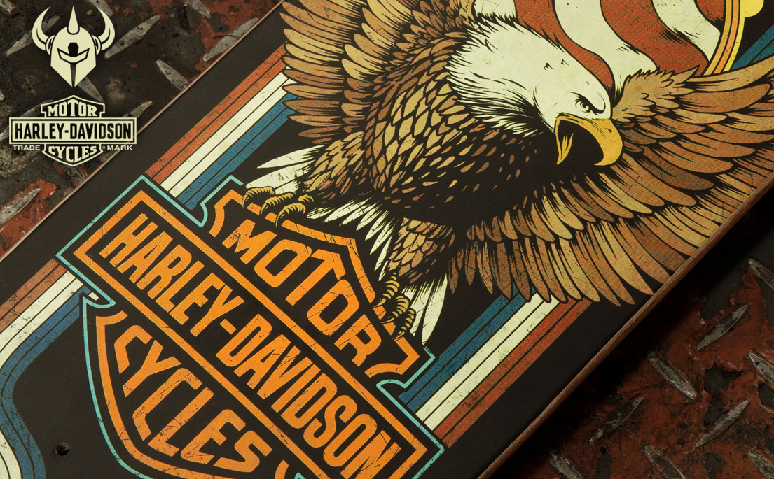 Darkstar Skateboards x Harley Davidson Motor Cycles collab