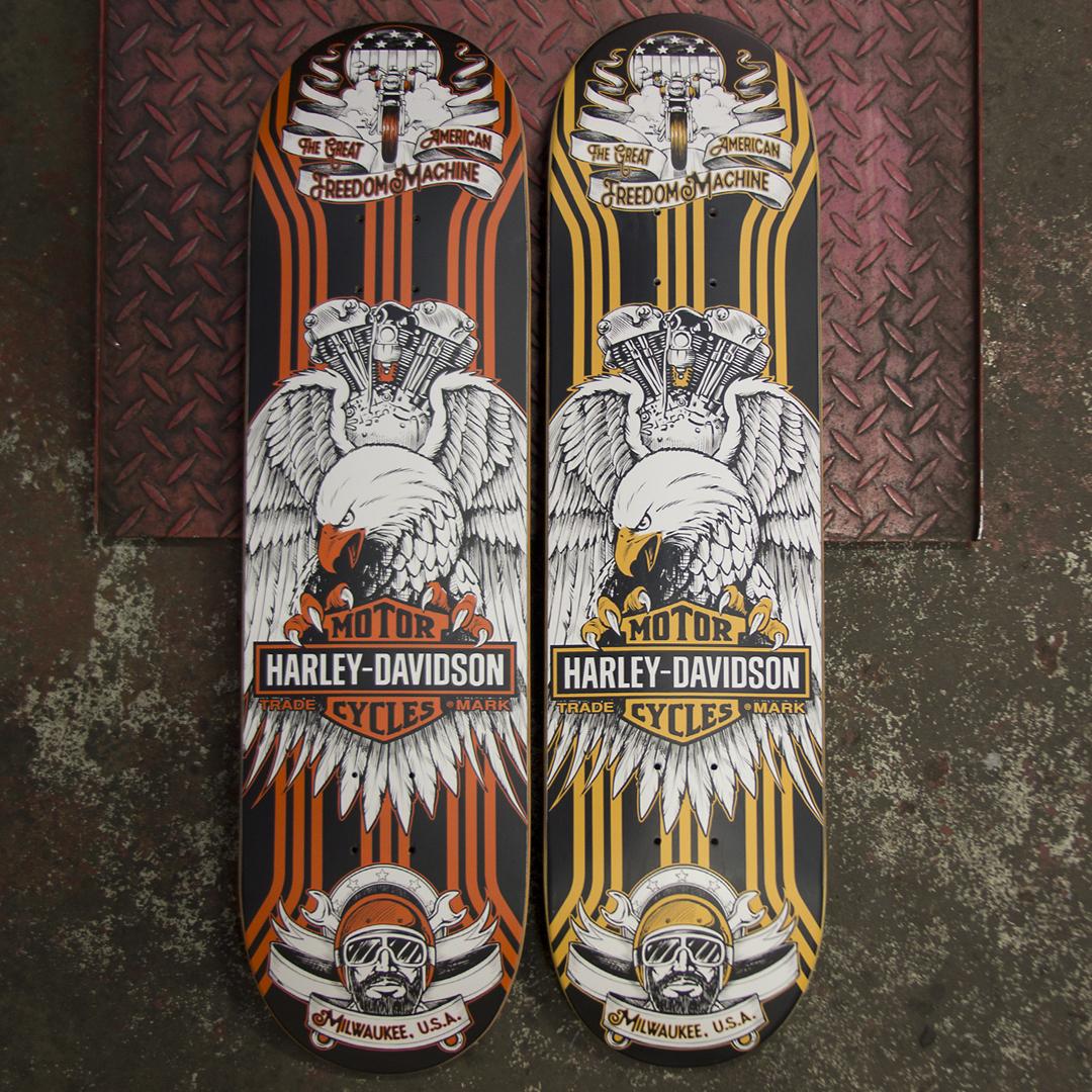 Darkstar skateboards harley davidson deck