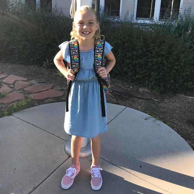 So proud of my baby girl. 1st day of 4th grade at a new school!! TIME FLYS. I love you #annibeldyet