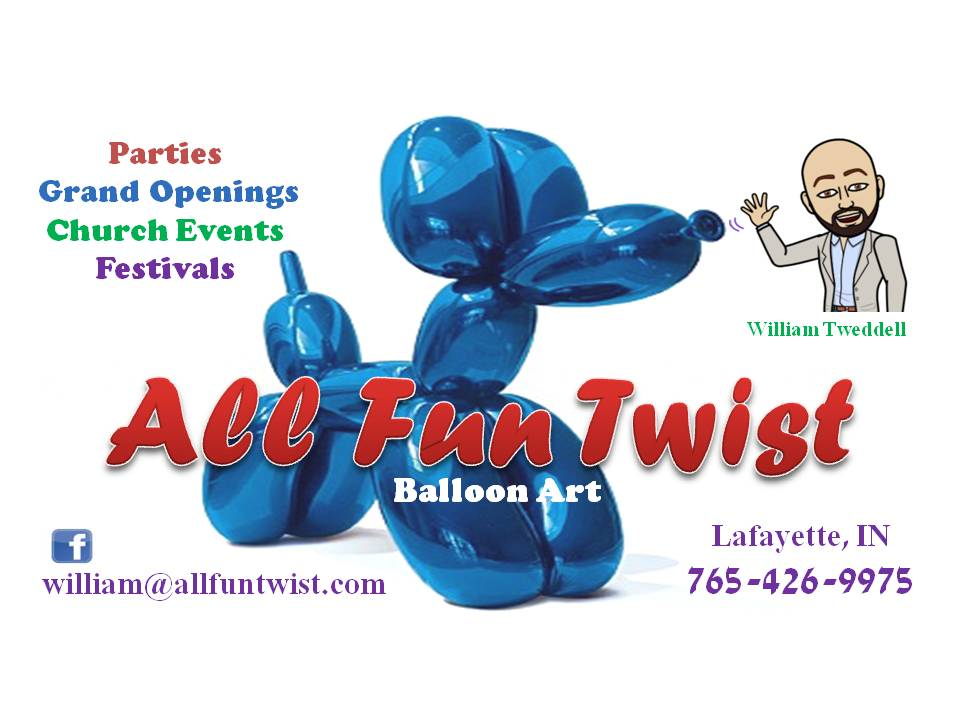 ALL FUN TWIST - Con goers, get a free balloon animal from William Tweddell from All Fun Twist ONLY FROM 12:00PM-2:00PM! Don't miss out!
