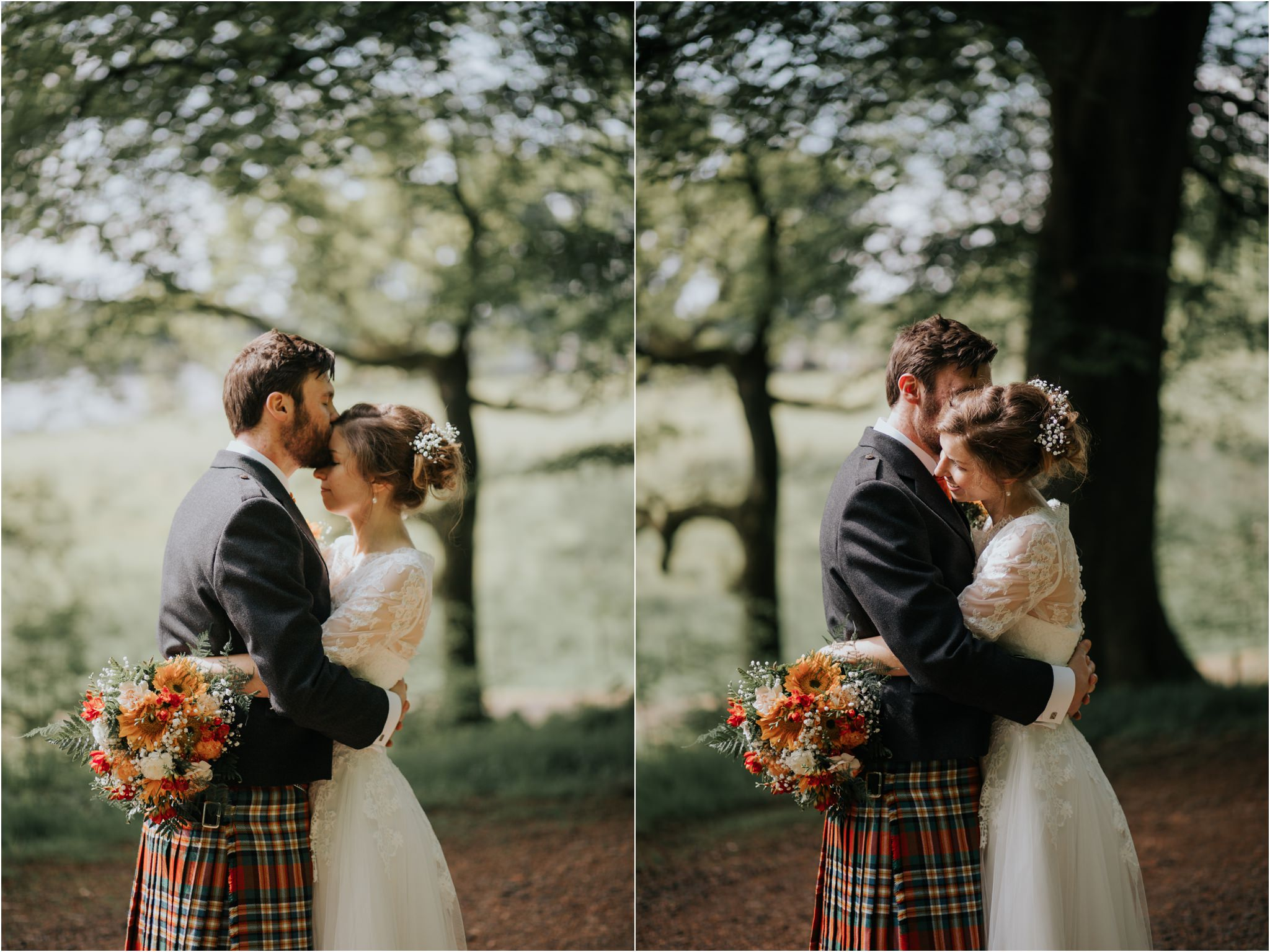 Photography 78 - Glasgow Wedding Photographer - Fraser Thirza - Killearn Village Hall - Three Sisters Bake Wedding_0106.jpg