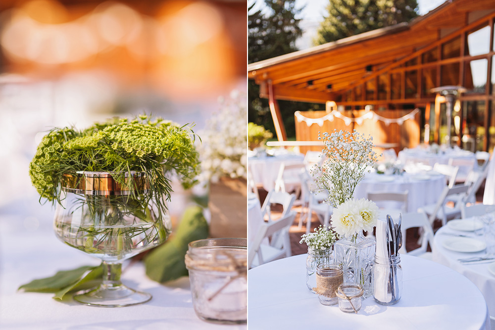 Vancouver wedding photos: Wedding reception table details