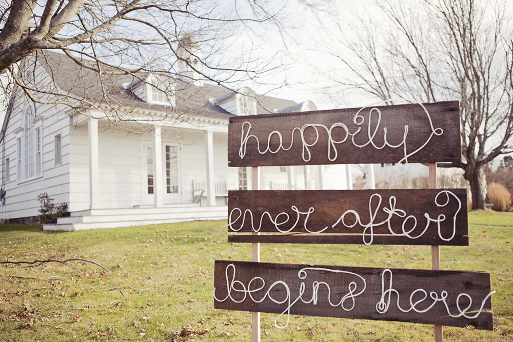 Happily ever after sign Vancouver wedding photgrapher