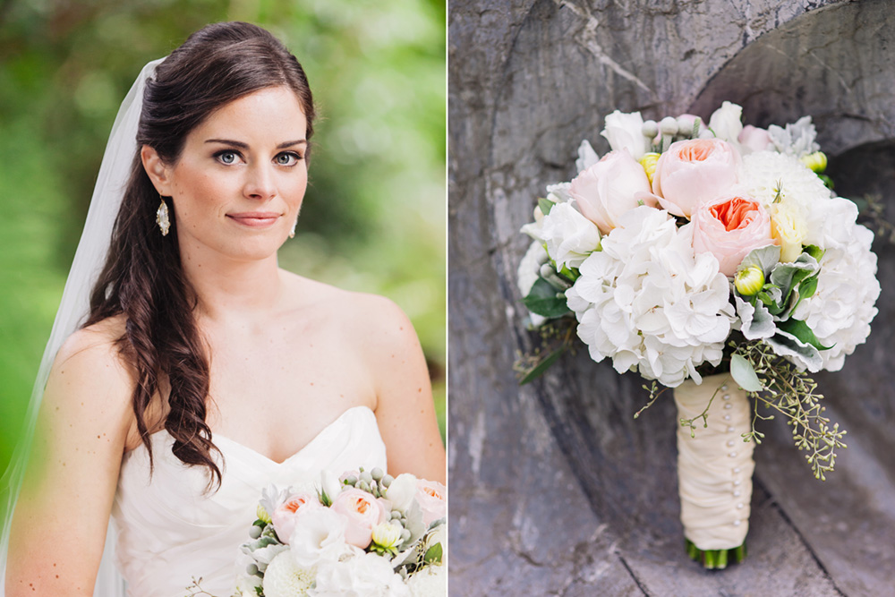 Vancouver wedding photos: bridal portrait, flowers Vancouver wedding photographer