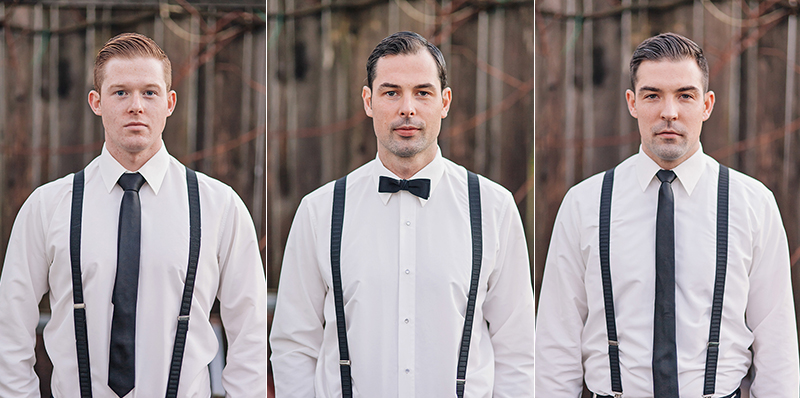 portrait of groom and brothers