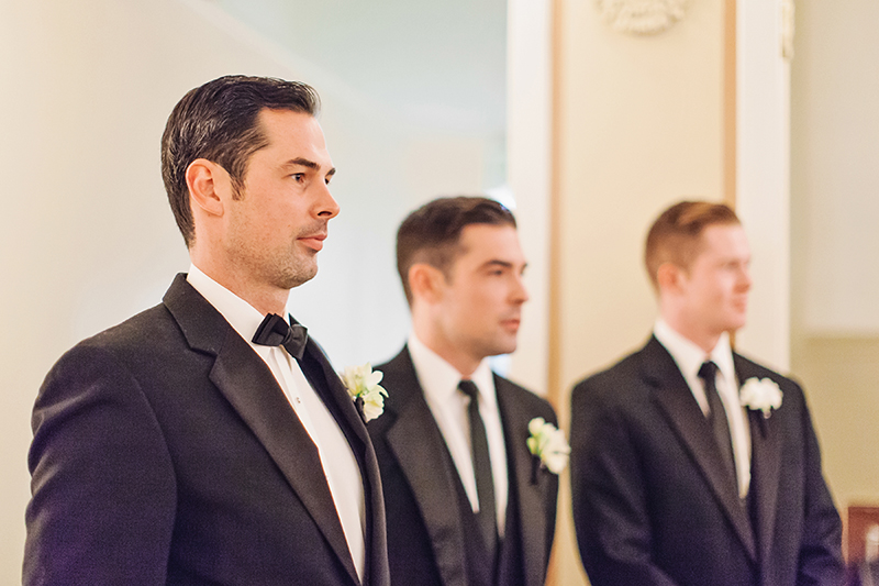 groom waiting for his bride