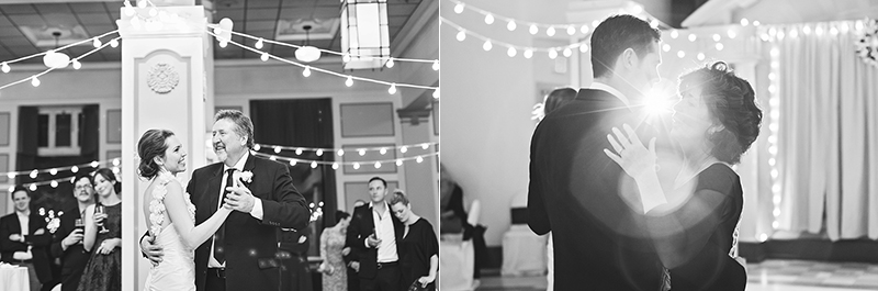 bride dancing with father/groom dancing with mother