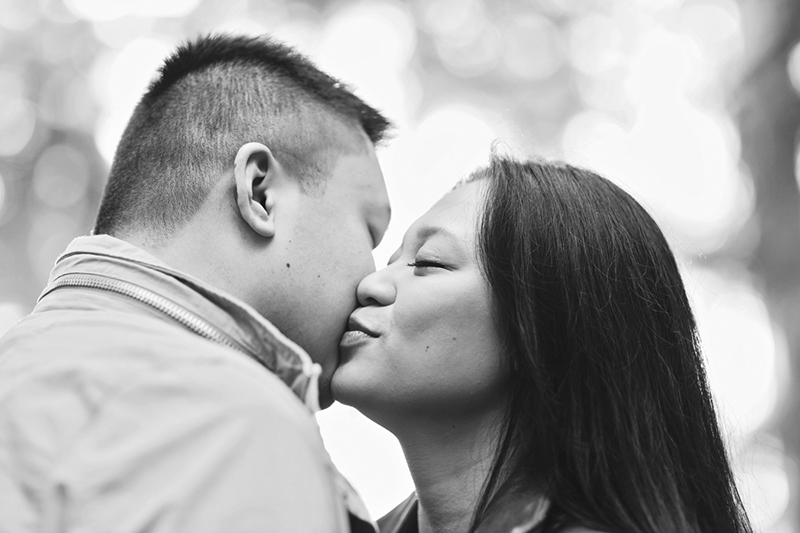 Engaged couple in Vancouver