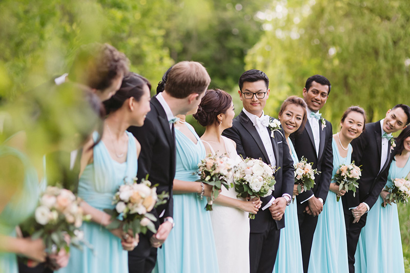 candid bridal party, Vancouver BC