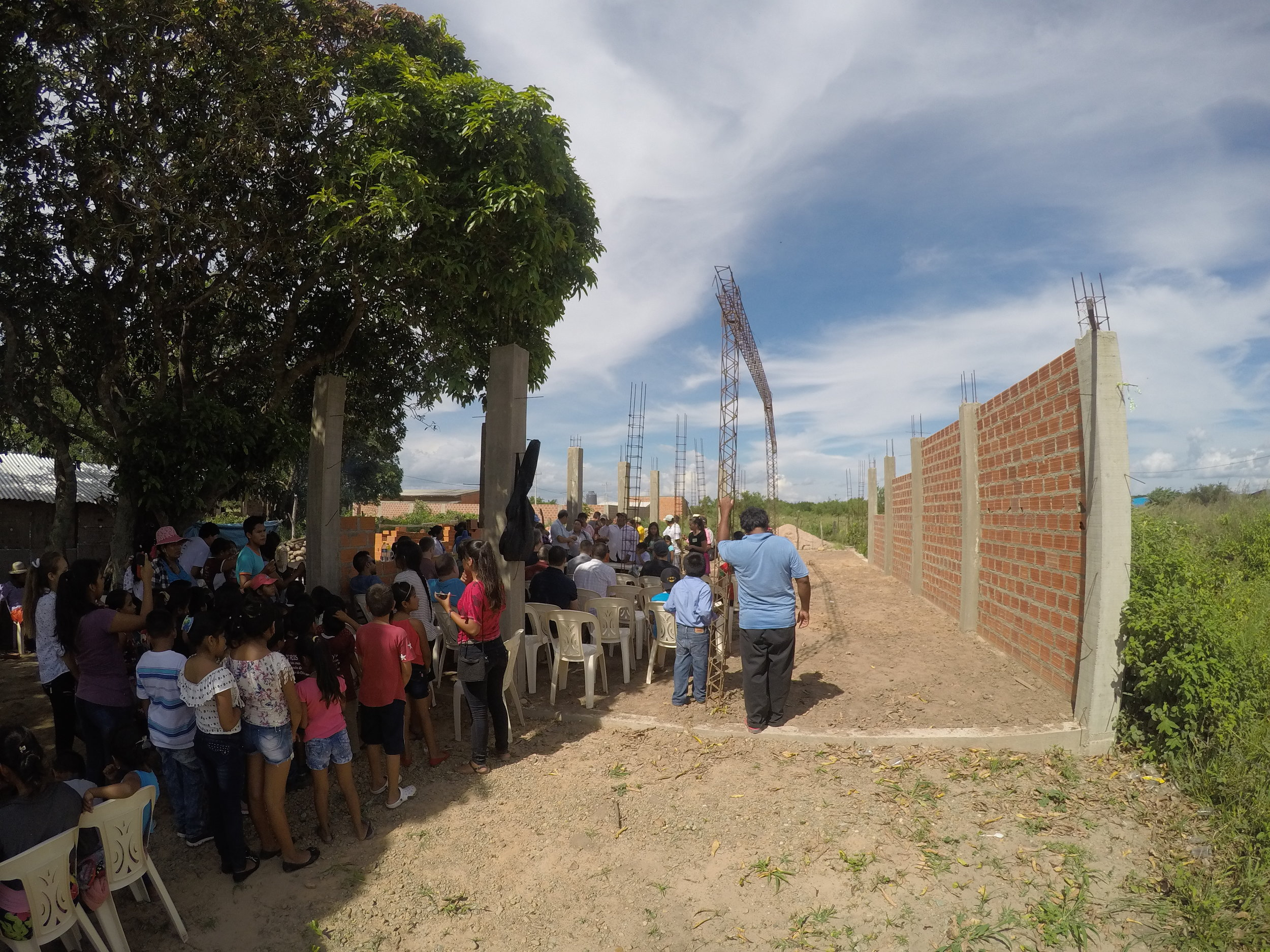 Construction progress of our church plant
