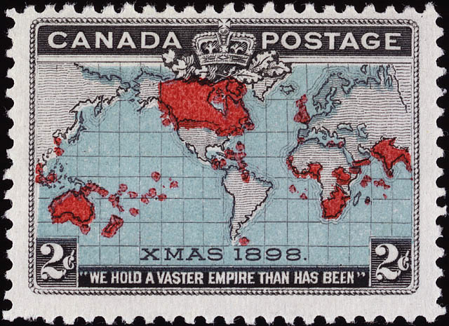 The world's first Christmas stamp (via Wikimedia Commons)