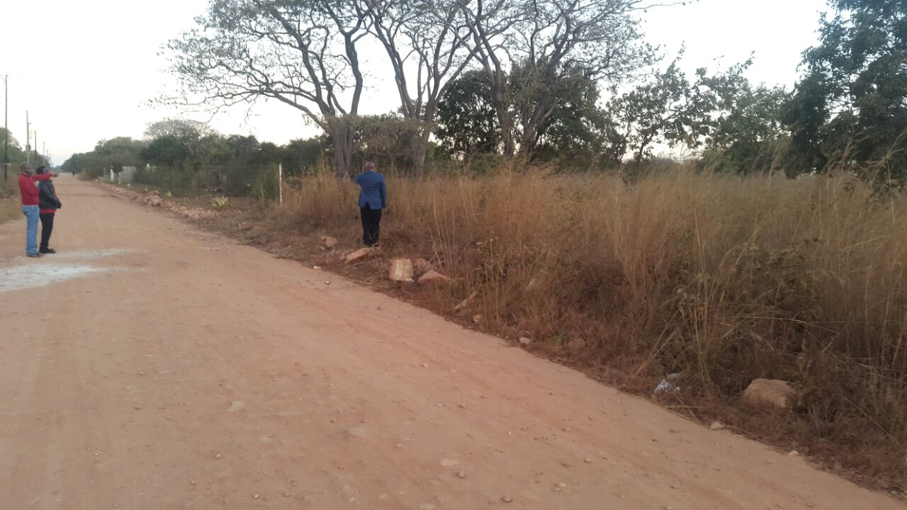 The frontage road bordering the five acres of beautiful raw land being purchased by Christ Life Church in Lusaka Zambia.   We believe by faith that God will use this property and its future improvements to bring salvation to many lost souls and to glorify His mighty name.
