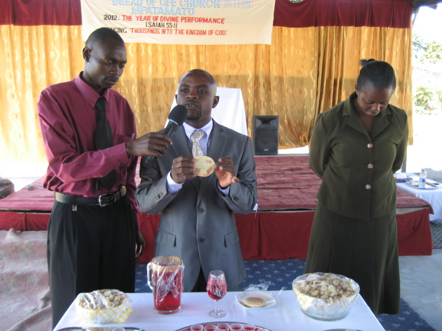 Holy Communion service in Zambia, August 2011.