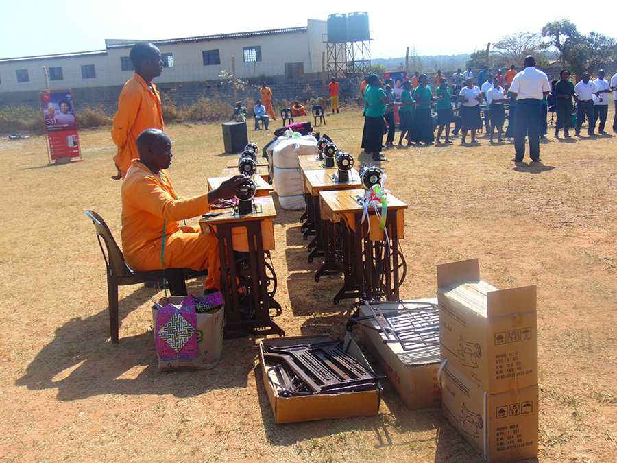 Donating Ten Sewing Machines in Prison