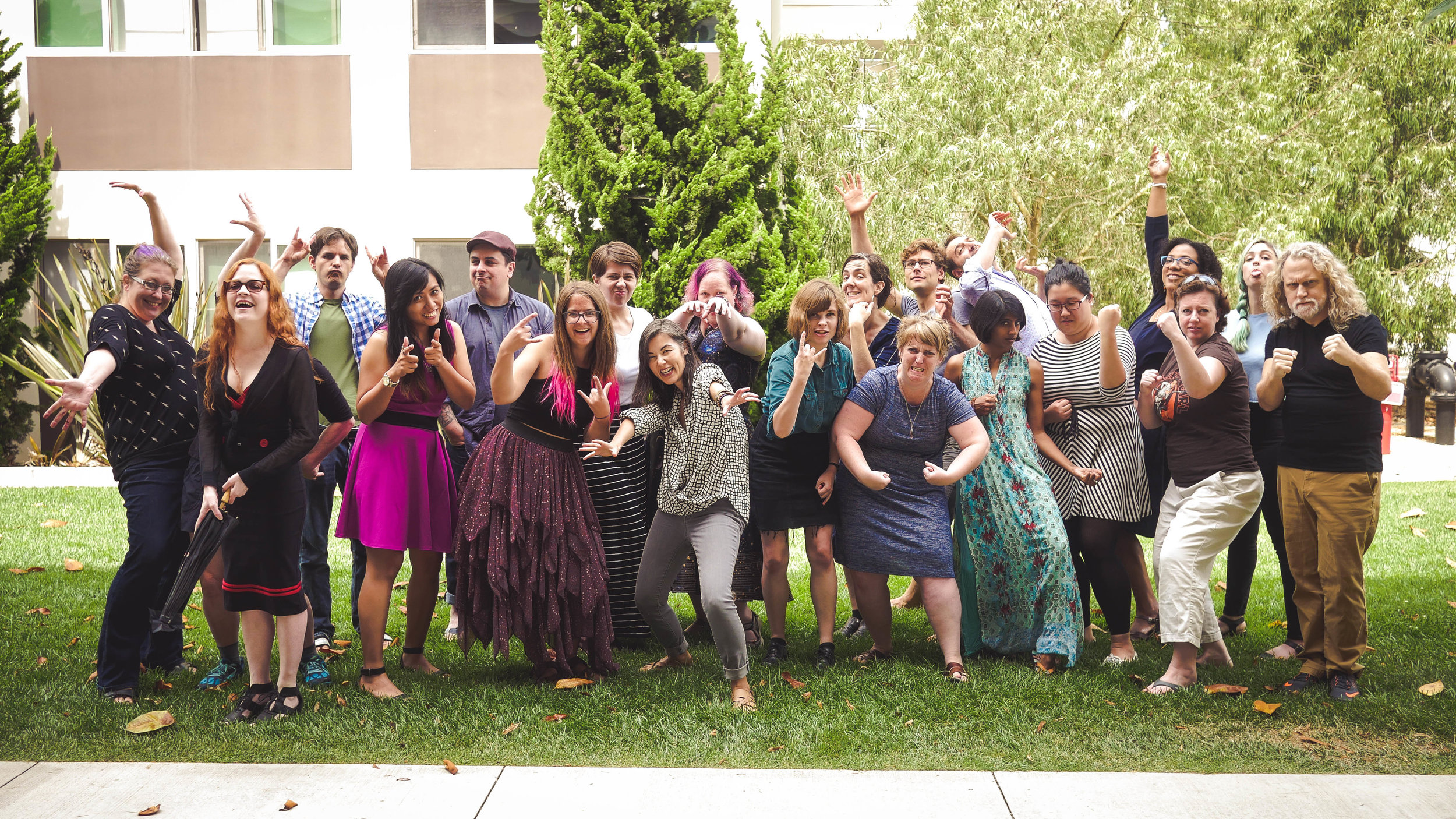 Clarion Class of 2017 embodying their FINAL FORMS; pic c/o Karen Osborne, woman of too many talents.