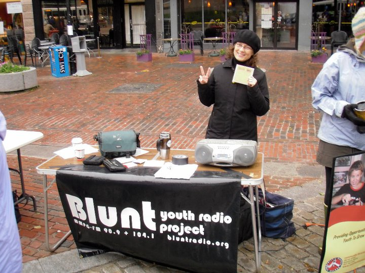 Blunt Youth Radio founder and director Claire Holman .