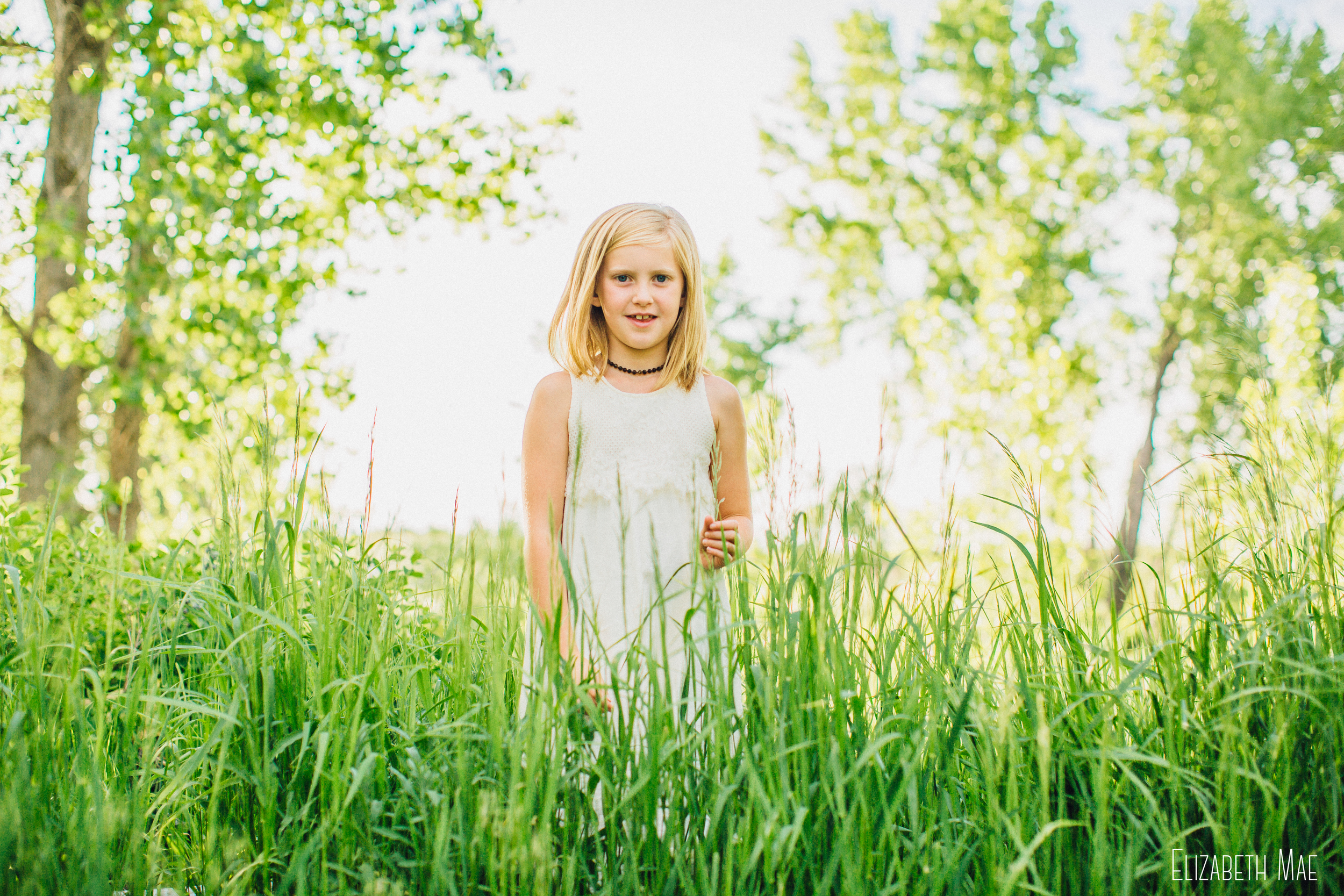 Girl in grass field